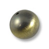 18mm Brushed Metal Satin Brass Plated Round Bead (1-Pc)