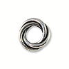 TierraCast Bead Twisted Spacer 8mm Pewter Antique Silver Plated (1-Pc)