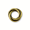 TierraCast Bead Twisted Spacer 8mm Pewter Antique Brass Plated (1-Pc)