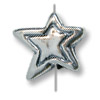 15mm Sterling Silver Star Bead (1-Pc)