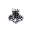 Bail - Volute 10x10mm Pewter Antique Silver Plated (1-Pc)