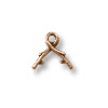 TierraCast Bail - Vine Pinch 10mm Pewter Antique Copper Plated (1-Pc)