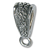 Bail - Flower 16x6mm Pewter Antique Silver Plated (1-Pc)