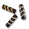 Batik Bone Beads Wavy Tube 25x8mm (10-Pcs)