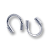 Wire Protector Guard Silver Color 4x4.5mm (10-Pcs)