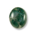 Moss Agate Cabochon 12x10mm
