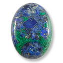 Azurite Oval Cabochon 18x13mm Synthetic