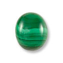 Malachite Oval Cabochon 12x10mm Synthetic