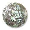 Abalone Crackle Disc 30mm (no hole)