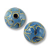 Handmade Cloisonne Bead 10mm Round Light Blue (1-Pc)