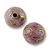 Handmade Cloisonne Bead 10mm Round Pink (1-Pc)