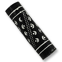 Terra Cotta Bead 10x35mm Tube Black/White (2-Pcs)