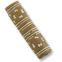 Terra Cotta Bead 10x40mm Tube Tan/White (2-Pcs)