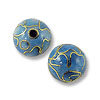 Handmade Cloisonne Bead 8mm Round Light Blue (1-Pc)
