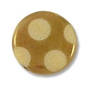 Czech Glass Flat Round Beads 15mm Copper Etching with Dots (1-Pc)