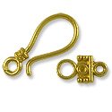 Clasp - Hook & Eye 25x11mm Base Metal Gold Plated (1-Pc)