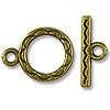 Clasp - Toggle 12mm Base Metal Antique Brass Plated (1-Pc)