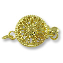 Clasp - Filigree 12mm Base Metal Gold Plated (1-Pc)
