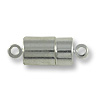 16x7mm Silver Plated Magnetic Barrel Clasp (1-Pc)