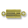 16x7mm Gold Plated Magnetic Barrel Clasp (1-Pc)