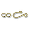 Hook and Eye Clasp 25x7mm Gold Plated (4-Sets)