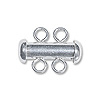 Two Strand Plunger Clasp 15x12mm Sterling Silver (1-Pc)