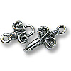 Hook & Eye Clasp - 29mm Pewter Silver Plated (Set)