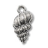 Nassa Shell Charm 15x10mm Pewter Antique Silver Plated (1-Pc)