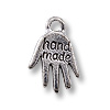 Charm - Handmade 11x10mm Pewter Antique Silver Plated (1-Pc)