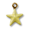 Charm - Yellow Star 11mm Pewter Antique Gold Plated (1-Pc)