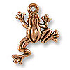 TierraCast Charm - Leap Frog 17x16mm Pewter Antique Copper Plated (1-Pc)