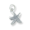 Sterling Silver Starfish Charm 10mm (1-Pc)