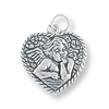 Angel Charm - 16x17mm Sterling Silver (1-Pc)