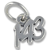 Charm - 143 (I Love You) 6x9mm Sterling Silver (1-Pc)