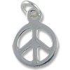 Peace Sign 8mm Sterling Silver (1-Pc)