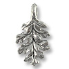 Charm - Oak Leaf 16x9mm Pewter Antique Silver Plated (1-Pc)
