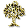 Charm - Tree of Life 20x17mm Pewter Antique Gold Plated (1-Pc)