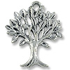 Charm - Tree of Life 20x17mm Pewter Antique Silver Plated (1-Pc)
