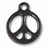 TierraCast Charm - Peace Sign 15mm Pewter Gunmetal Plated (1-Pc)