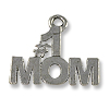 Charm - #1 Mom 13x16mm Pewter Antique Silver Plated (1-Pc)