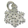Snowflake Charm - Small 11x13mm Sterling Silver (1-Pc)