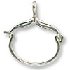 Charm Holder - 31x25mm Sterling Silver (1-Pc)
