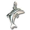 Sterling Silver Dolphin Charm 20x15mm (1-Pc)