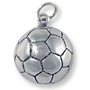 Soccer Ball Charm - 13mm Sterling Silver (1-Pc)