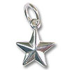 Star Charm - 9mm Sterling Silver (1-Pc)