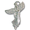 Angel Charm - 30x22mm Sterling Silver (1-Pc)