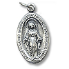 Virgin Mary Charm 18x12mm Sterling Silver (1-Pc)