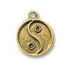 Charm - Yin / Yang 13mm Pewter Antique Gold Plated (1-Pc)