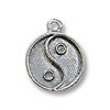 Charm - Yin / Yang 13mm Pewter Antique Silver Plated (1-Pc)