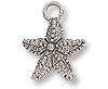 Starfish Charm 12mm Pewter Antique Silver Plated (1-Pc)